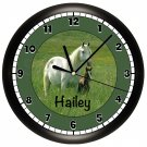Personalized Horse Wall Clock Equestrian Pony