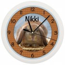 Personalized Bunny Rabbit Wall Clock CUTE ART DECOR