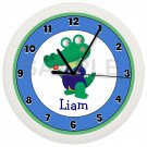 Personalized Alligator Nursery Wall Clock