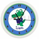 Alligator Nursery Wall Clock Personalized
