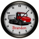 Personalized Red Truck Wall Clock