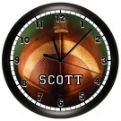 Personalized BASEBALL Wall Clock Boys Bedroom Wall Art SPORTS TEAM NCAA
