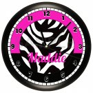 Personalized Pink Zebra Print Wall Clock