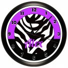 Personalized Purple Zebra Print Wall Clock