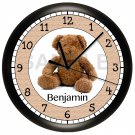 Teddy Bear Personalized Wall Clock