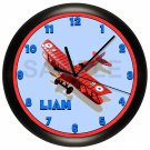 Airplane Personalized Wall Clock