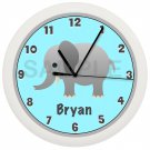 Elephant Nursery Wall Clock