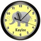 Elephant Nursery Wall Clock
