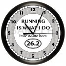 Marathon Runner Wall Clock