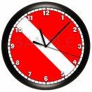 Personalized Scuba Diving Wall Clock Scuba Flag