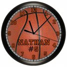 Personalized Basketball Wall Clock