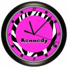 Personalized Zebra Wall Clock Bedroom Wall Art Decor