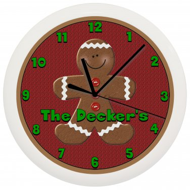 Personalized Gingerbread Man Wall Clock