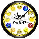 Emoji Emoticons Wall Clock