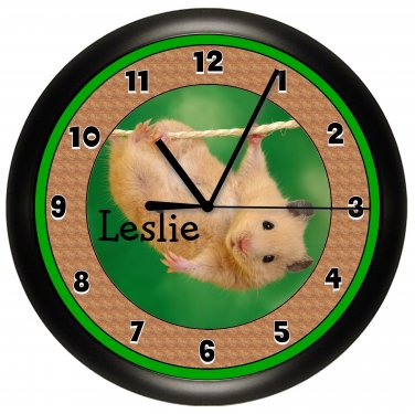 Hamster Personalized Wall Clock