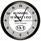 Half-Marathon Runner Wall Clock