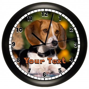 Personalized Beagle Wall Clock
