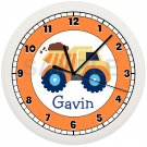 Dump Truck Personalized Wall Clock