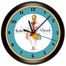 Girl Shopping Wall Clock