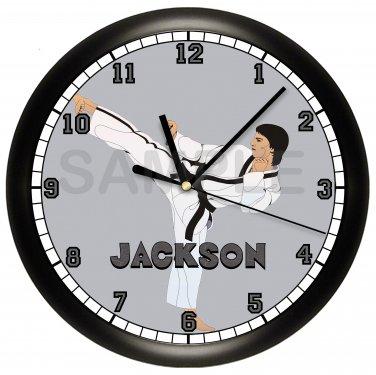 Martial Arts Karate Wall Clock