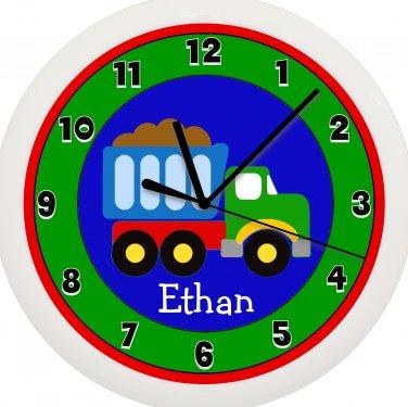 Dump Truck Personalized Wall Clock