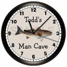 REDFISH FISHING WALL CLOCK
