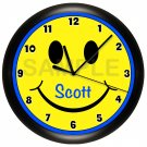 Personalized Smiley Face Smile Wall Clock