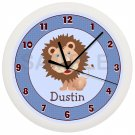Personalized Blue Lion Nursery Wall Clock