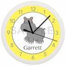 Hippopotamus Wall Clock Personalized