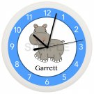 Hippopotamus Wall Clock Personalized