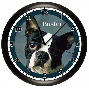 Boston Terrier Wall Clock Dog Puppy Dog