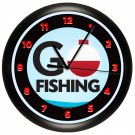 GO FISHING WALL CLOCK