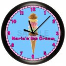 PERSONALIZED ICE CREAM CONE WALL CLOCK