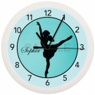 Turquoise Dancer Custom Wall Clock