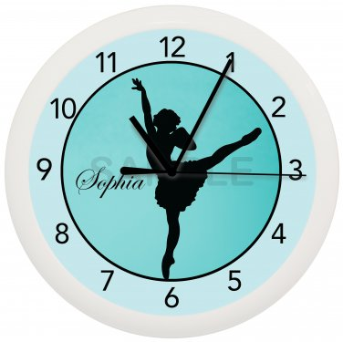 Turquoise Dancer Custom Wall Clock