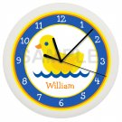 Yellow Duck Ducky Wall Clock Bathroom Decor Wall Art