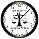 Scales of Justice Law Wall Clock