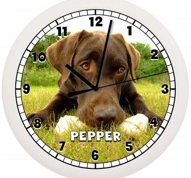 Chocolate Labrador Wall Clock Lab Dog