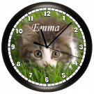 Personalized Kitten Wall Clock