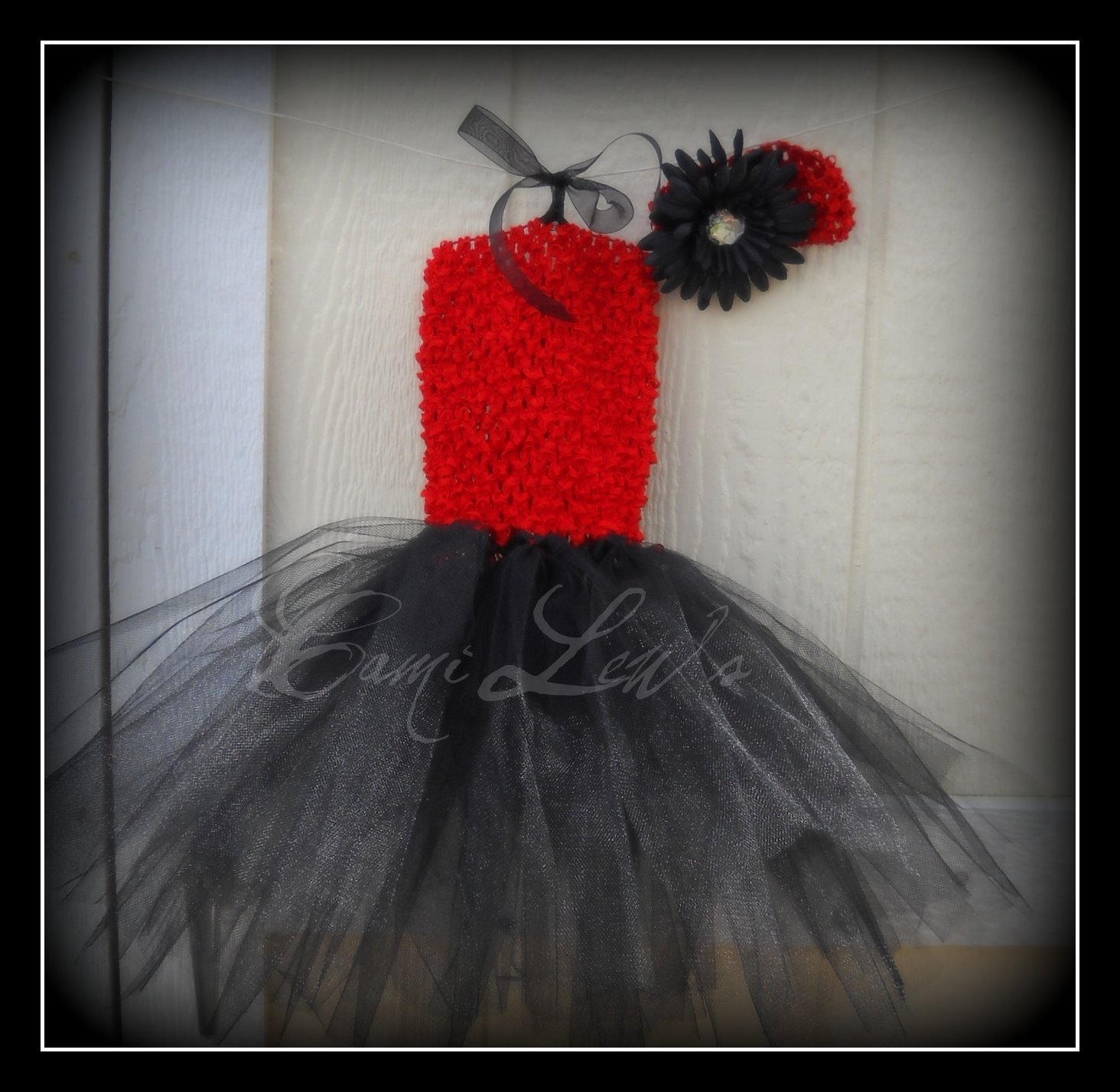 Red and black tutu haulter dress