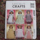 """McCall's Pattern # 3627 Life of Faith, American Girl Felicity 18"""" doll clothes sewing pattern"""