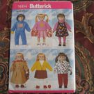 "Butterick Pattern # 5604  Life of Faith, American Girl 18"" doll clothes sewing pattern  DISC"