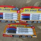Qty 3 packages DRY ERASE markers Promarx 3 ct bullet tip NEW in package