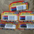 Qty 5 packages DRY ERASE markers Promarx 3 ct bullet tip NEW in package