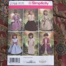 Simplicity 2768 American Girl 18&quot; Doll clothes pattern   NEW Renassiance Royalty & Peasant, Eqyptian
