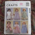 "McCall's 2609 American Girl 18"" Doll clothes pattern UNCUT NEW HISTORICAL DISCONTINUED"