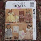 "McCALLS 3275 AMERICAN GIRL 18"" DOLL CLOTHES PATTERN NEW UNCUT DISCONTINUED GOTZ"