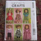 "McCall's 5554 American Girl 18"" Doll clothes pattern   NEW in envelope"