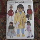 "Butterick 3491 American Girl 18"" Doll clothes pattern  NEW  PAJAMAS, ROBE, ICE SKATING OUTFIT, BOY+"