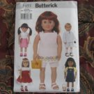 "Butterick 3491 American Girl 18"" Doll clothes pattern  NEW in envelope DRESS, SHORTS, TOPS, BOY +"